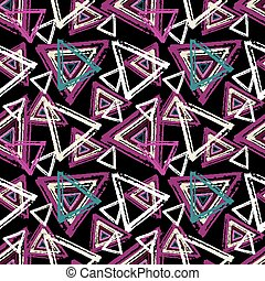 Graffiti small psychedelic seamless pattern vector illustration