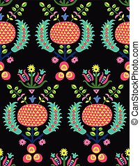 Ottoman turkish pattern - Turk flower background Antique...