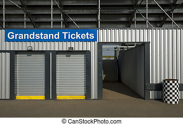 grandstand tickets - sales booth for entertainment event...