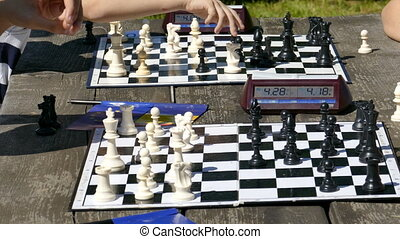 Siumultan chess for children and young people organized on...