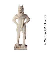 Greek God of fertility Pan - The Greek God of fertility with...