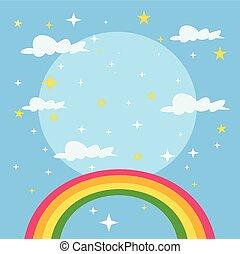 Fairy tale rainbow background