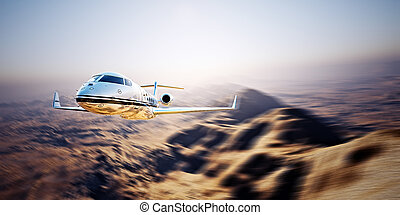 Photo of silver modern and luxury generic design private jet...