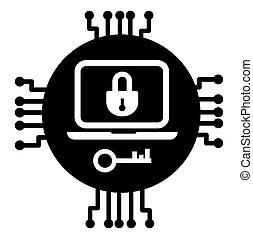 Data encryption and protection Vector illustrarion - Vector...