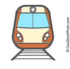 Vector illustration colorful train icon or logo