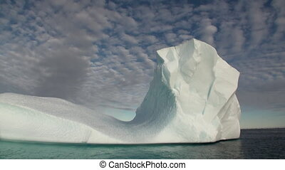 Big Iicebergs floating in sea around Greenland. - Big...
