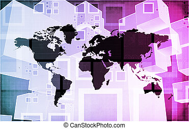 Global Business Logistics Software and Support Art