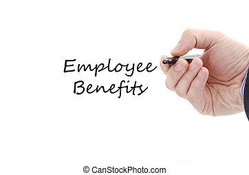 empregado, texto, conceito, benefícios