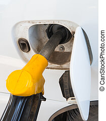 Close-up of a refilling the car - Close-up of arefilling the...