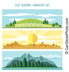 Nature landscape banners