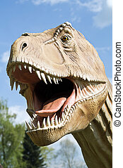 Dinosaur - T- rex dinosaur outdoor close up shoot