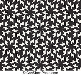 Vector Seamless Black and White Geometric Tessellation...