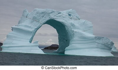 Iceberg arch like Darwin arch in Galapagos Islands Fantastic...