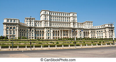 Palace Of The Parliament, Bucharest Romania - Front view of...