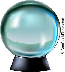 Fortune predicting ball - illustration Fortune predicting...