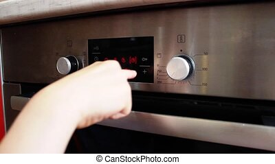 Setting oven for baking