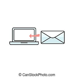 Contact Concept Message and Laptop - Contact concept message...