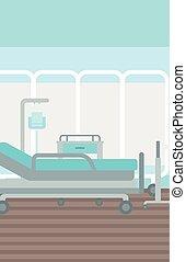 Background of hospital ward.