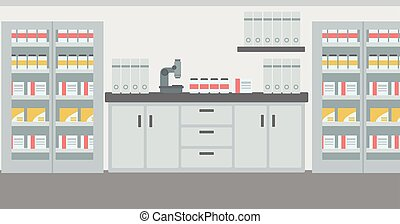 Background of laboratory interior. - Background of...