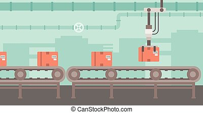 Background of conveyor belt - Background of conveyor belt...
