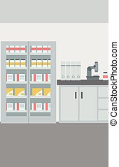 Background of laboratory interior - Background of laboratory...
