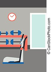 Background of gym with equipment. - Background of gym with...