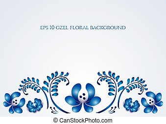 Old traditional gzel ornament Vector background -...