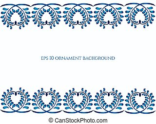 Old traditional gzel ornament Vector background - Old...