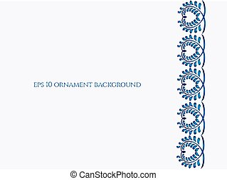 Old traditional gzel ornament. Vector background. - Old...