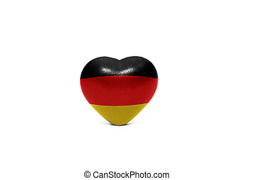 heart with national flag of germany on the white background