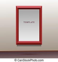 illustration of red frame template