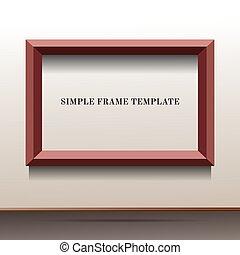 illustration of brown frame template