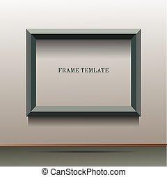 illustration of green frame template