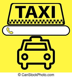 sticker, logo or icon Taxi service with space for a phone...