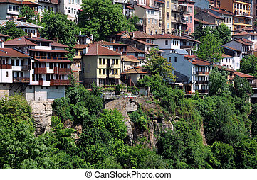 Veliko Tarnovo in the Springtime - View of the town in the...