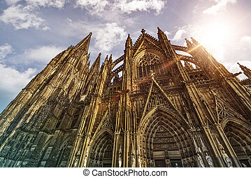 Cologne Cathedral in the sun