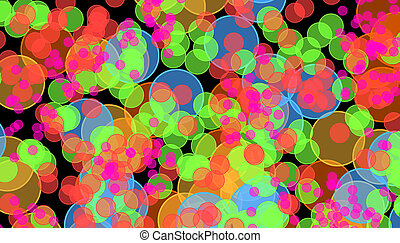 Psychedelic circles background - An abstract, psychedelic...