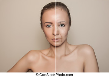 before and after beauty procedure