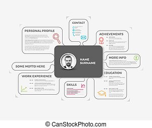 Vector original creative cv resume template - Vector...