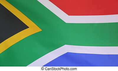 Flag of South Africa - Fabric national flag of South Africa...