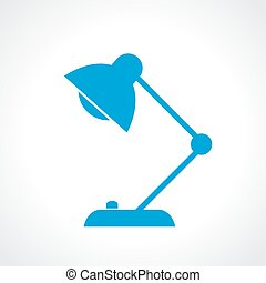 Desk lamp icon - Desk lamp vector icon