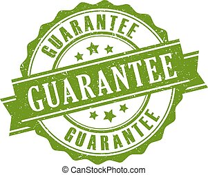 Guarantee ribbon stamp isolated on white background
