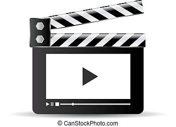 Clapper video icon