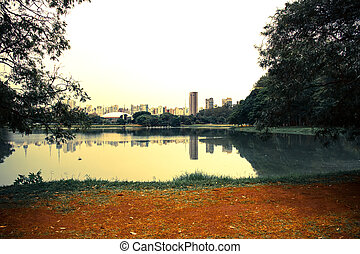 Ibirapuera Park in Sao Paulo - The Ibirapuera Park in Sao...