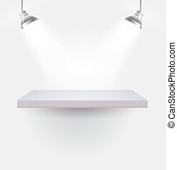Illuminated shelf - Light Regiment, vector art illustration...