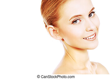 healthy teeth - Portrait of a beautiful smiling young woman...