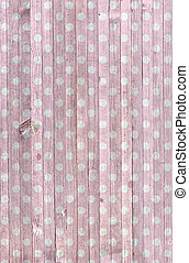 pink polka dot wood - Faded pink polka dot pattern on...