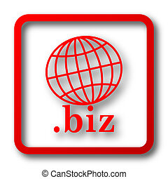 biz icon Internet button on white background