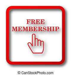 Free membership icon. Internet button on white background.