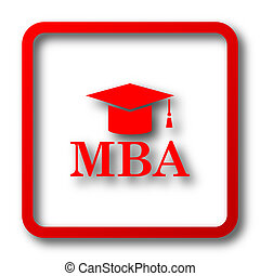 MBA icon Internet button on white background